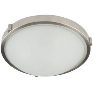 Fredrick Brushed Nickel Three-Light Flush Mount