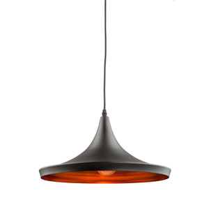 York Matte Black One-Light Pendant
