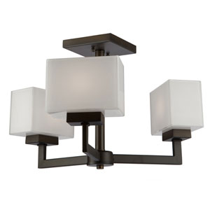 Pax Oil Rubbed Bronze Three-Light Chandelier