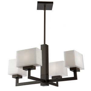 Pax Oil Rubbed Bronze Four-Light Chandelier