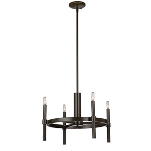 Fredrick Polished Nickel Four-Light Chandelier