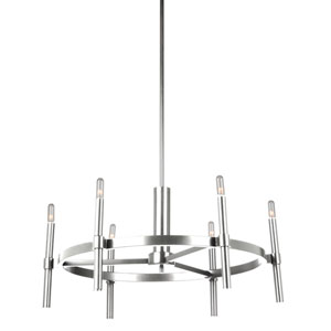 Fredrick Polished Nickel Six-Light Chandelier
