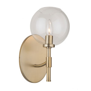 York Satin Brass One-Light Wall Sconce