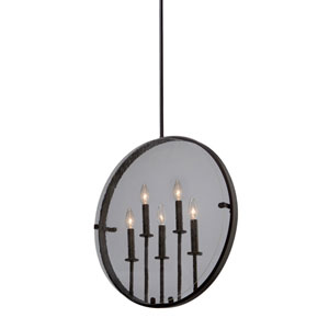 Irving Oil Rubbed Bronze Five-Light Pendant