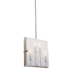 Irving Satin Nickel Four-Light Pendant