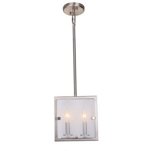 Irving Satin Nickel Two-Light Mini Pendant