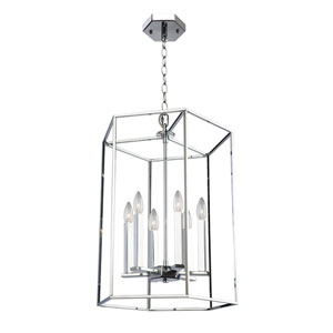 Loring Chrome 18-Inch Six-Light Chandelier