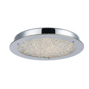 Essex Chrome 16-Inch LED Flush Mount