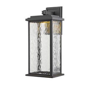 Pax Black 9-Inch LED Outdoor Wall Sconce
