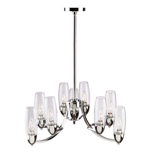 Castor Chrome Nine-Light Chandelier