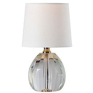 Ava Crystal and Polished Nickel 12-Inch One-Light Crystal Lamp
