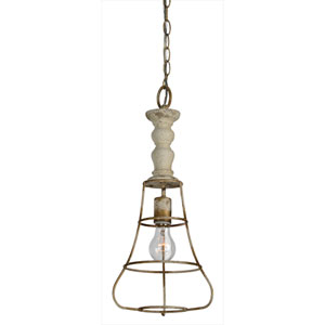 Hana Cottage White One-Light Mini Pendant