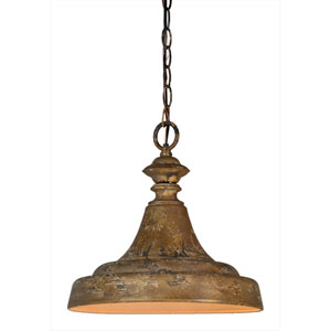 Iris Antique Gold One-Light Pendant