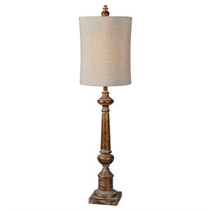 Hana Aged Copper One-Light Buffet Lamp