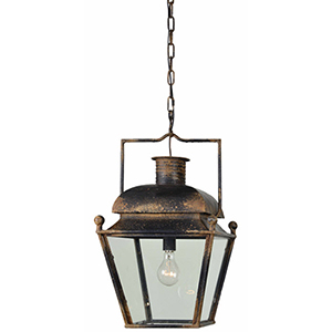Iris Rustic Black 27-Inch One-Light Chandelier
