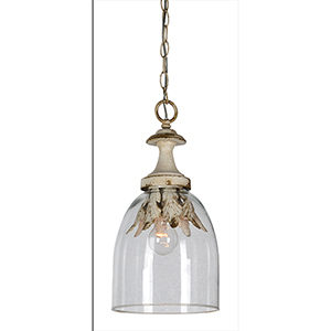 Hana Cottage White One-Light Pendant