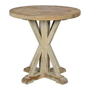 Hana Driftwood and Cottage White Accent Table