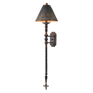 Iris Rustic Black One-Light Plug-In Sconce