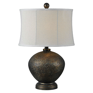 Iris Oil Rubbed Bronze One-Light Table Lamp