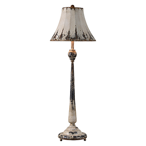 Iris Rustic White One-Light Buffet Lamp