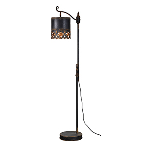 Iris Rustic Black One-Light Floor Lamp
