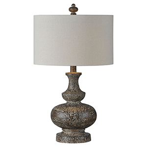 Iris Brown Distressed One-Light Table Lamp