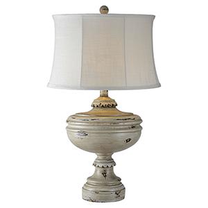 Hana Antique White One-Light Table Lamp