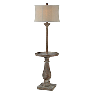 Hana Washed Driftwood One-Light Floor Lamp