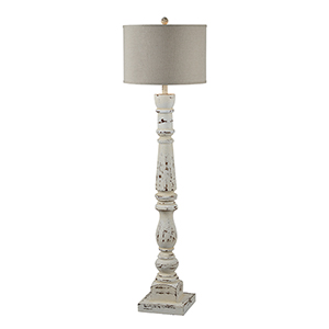 Hana Cottage White One-Light Floor Lamp