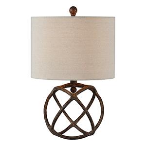 Austin Antique Bronze 20-Inch One-Light Table Lamp