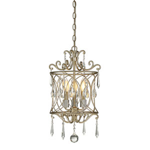 Evelyn Gold 13-Inch Three-Light Pendant