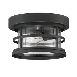 Cora Black 10-Inch One-Light Outdoor Flushmount