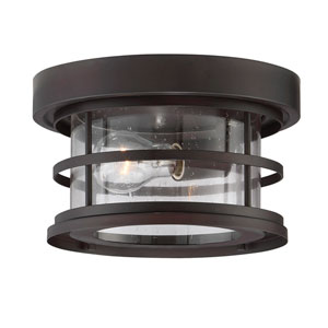 Cora English Bronze 10-Inch One-Light Outdoor Flushmount