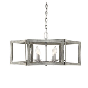 Anita Pewter and Greywood 27-Inch Six-Light Pendant