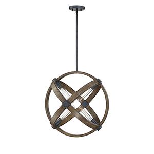 Finn Whiskey Wood 21-Inch Four-Light Pendant