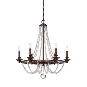 Lincoln Bronze 28-Inch Six-Light Chandelier
