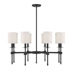 Kate Classic Bronze 34-Inch Eight-Light Chandelier