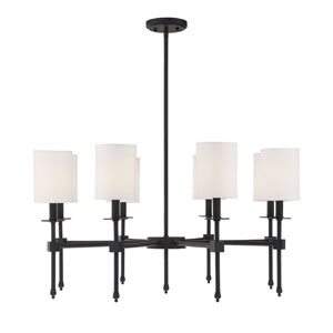 Kate Matte Black 34-Inch Eight-Light Chandelier