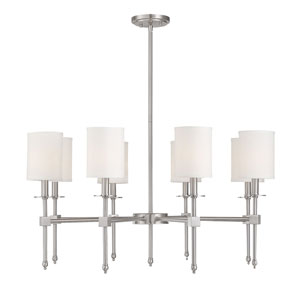 Kate Brushed Nickel 34-Inch Eight-Light Chandelier