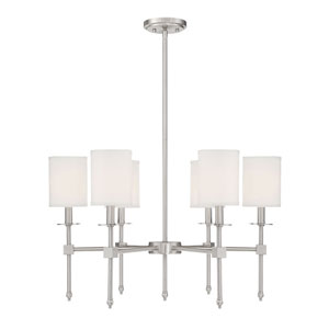Kate Brushed Nickel 28-Inch Six-Light Chandelier