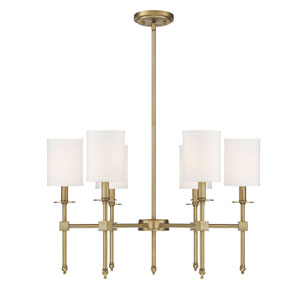 Kate Polished Brass 28-Inch Six-Light Chandelier