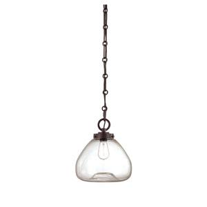 Nora English Bronze 12-Inch One-Light Pendant