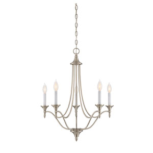 Lyndale Brushed Nickel 21-Inch Five-Light Chandelier
