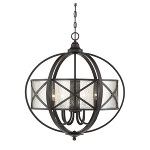 Partridge English Bronze 24-Inch Six-Light Pendant