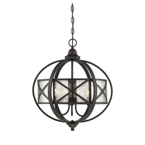 Partridge English Bronze 19-Inch Three-Light Pendant