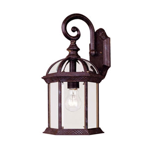 James Rustic Bronze Eight-Inch One-Light Medium Outdoor Wall Sconce