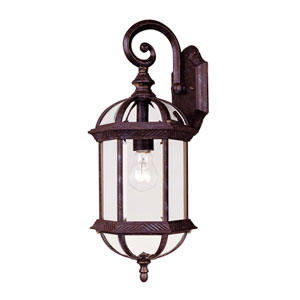 James Rustic Bronze Eight-Inch One-Light Small Outdoor Wall Sconce