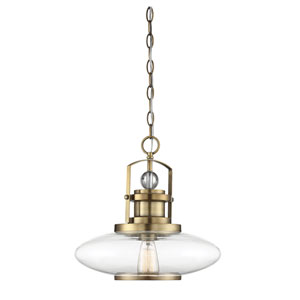 Hayes Polished Brass 16-Inch One-Light Pendant