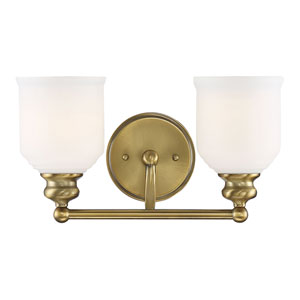 Belmont Polished Brass 15-Inch Two-Light Bath Vanity