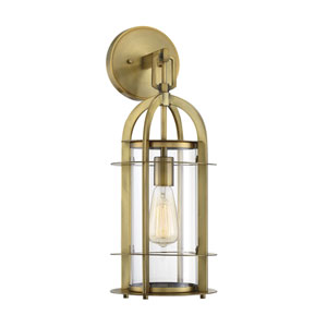 Finn Polished Brass Eight-Inch One-Light Outdoor Wall Sconce